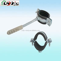 galvanized steel rubber high temp pipe clamp