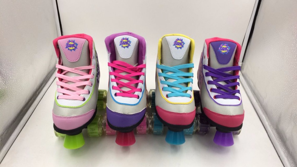 China High Quality Special Mesh White and Pink  Ice Skating Shoes for Ice Rink Rental