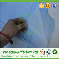 pe coated non woven fabric laminated fabric for madical bedsheet