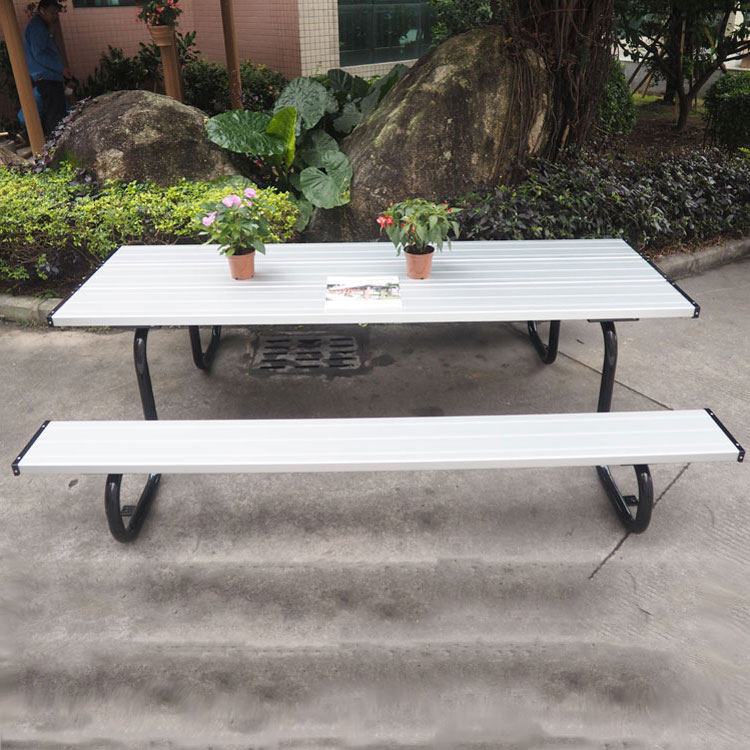 Gold Supplier Garden Table Chairs Sale Powder Coated Outdoor Metal - Picnic table supplier