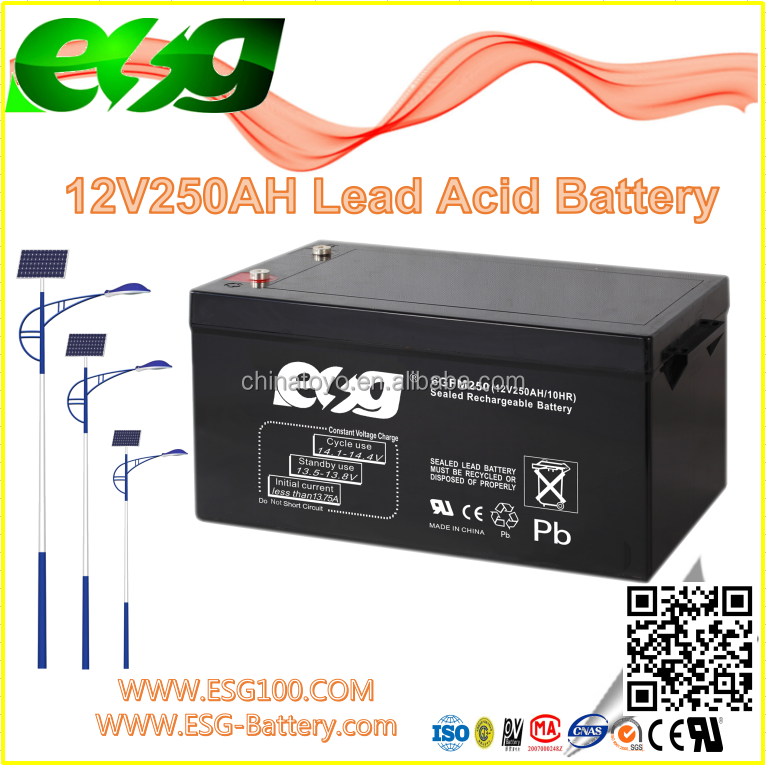 12V250AH New products Manufacture Lead Acid VRLA high rate AGM SLA MF Solar UPS Long way battery
