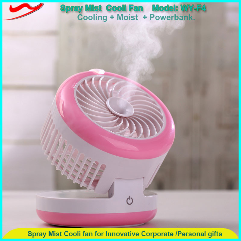 Water mist spray fan / Humidifying & cooling air & moist skin Handy Mini Water Mist Fan