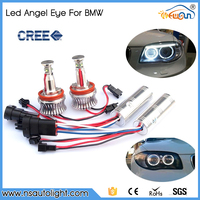 H8 20W led marker angel eyes halo light bulbs led for BMW car accessories super bright cool led ring lights auto led headlight