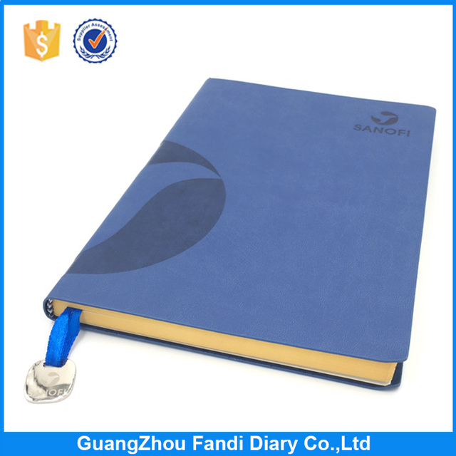 custom a5 size perfect bound soft cover PU leather note book