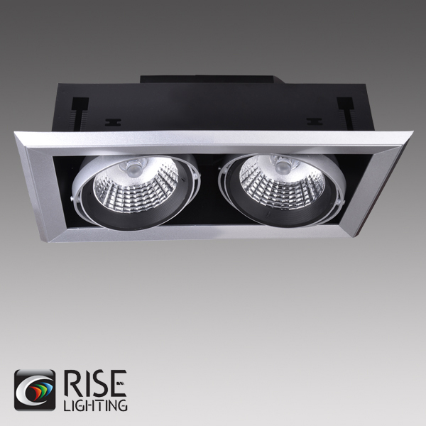 ETL listed 3 Lamp GU10 LED New Construction 120V Dimmable Gimbal Recessed Multiple Light with Cold Forging heat sink
