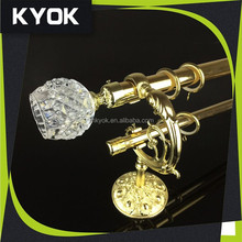 KYOK good price curtain drapery for curtain sets, curtain crystal sets with rod / finial/ ring and bracket