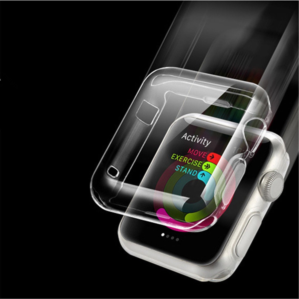 For Apple Watch Series <strong>1</strong>&amp;2&amp;3 Clear Transparent Soft Shell Protective Case Cover