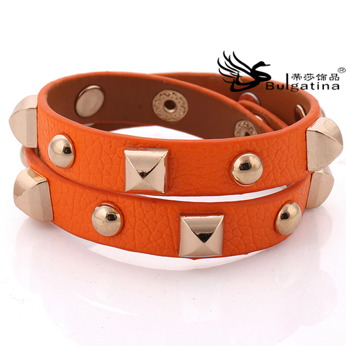 Latest Design Gold Bracelets For Men,Wholesale Gold Leather Bracelets With Metal In Stock Items Hot