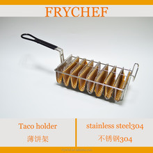 8 Mould Nickel Plated Steel Mexican Taco Shell Deep Fryer Basket