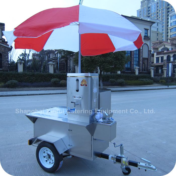 2014 Popular Using Stainless Steel Frozen Fruit Drink Exhibition Booth Stall Cart in Summer XR-CC120 A