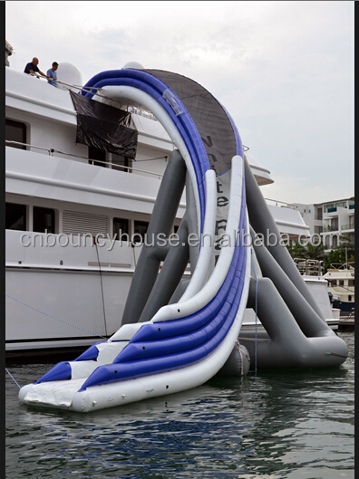 Lake inflatable floating water slide,wate slides for sale