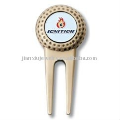Golf club Divot tool with ball marker