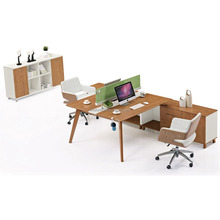 administrative personnel t shaped 2 person office desk office furniture workstation IC3024