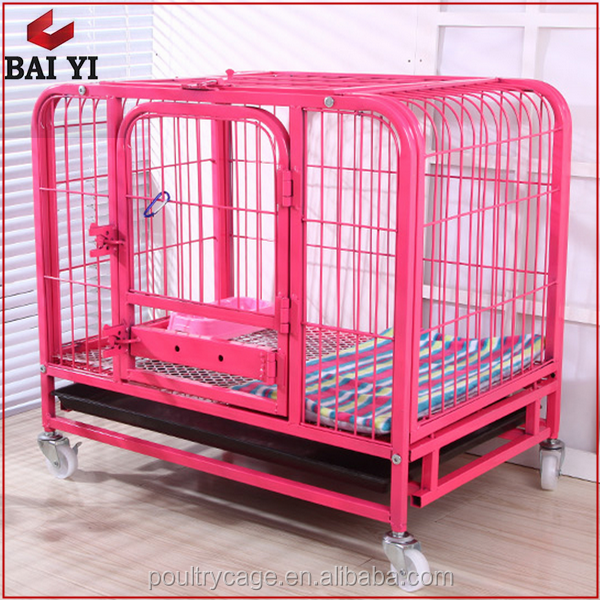 Large Scale Square Tube Dog Cage With Plastic Tray for Sale Cheap
