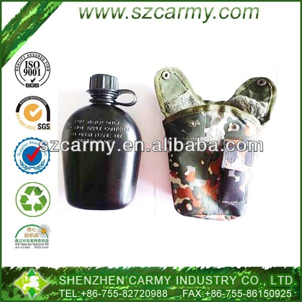 Black HDPE Flecktarn Camouflage Woodland Military Water Kettle