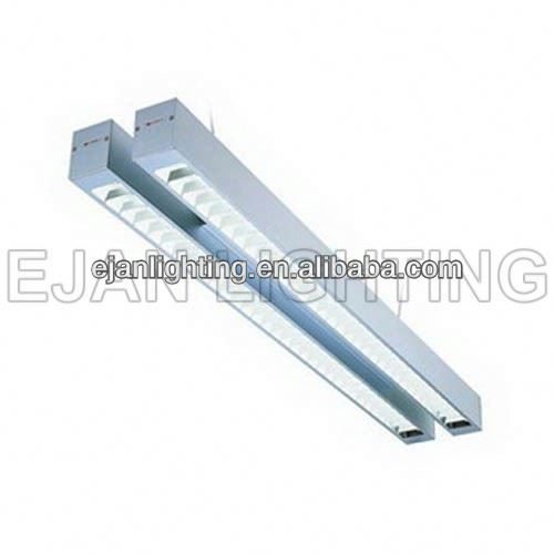Office T5 Fluorescent Two tubes Aluminum Linear hanging light