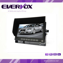 7 inch HD heavy duty monitor with 3 video and 2 audio input 800*480 resolution