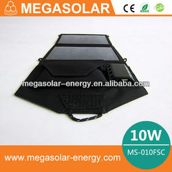 10W/12V Outdoor Foldable Solar Charger Bag/Panels for sale