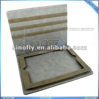 New style high copy sheep Skin for Ipad 2 and leather case CASE IPADCASE045