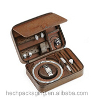 Luxury Genuine Leather Travel Watch Box with zipper Watch travel case for mens watch wholesale from China Shenzhen