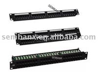 110/Krone type idc/Dual cat3 cat5e cat6 cat6a patch panel