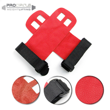 2 Hole Leather Barbell Gymnastics Grips For CrossPowerlifting & Gymnastics,Etc
