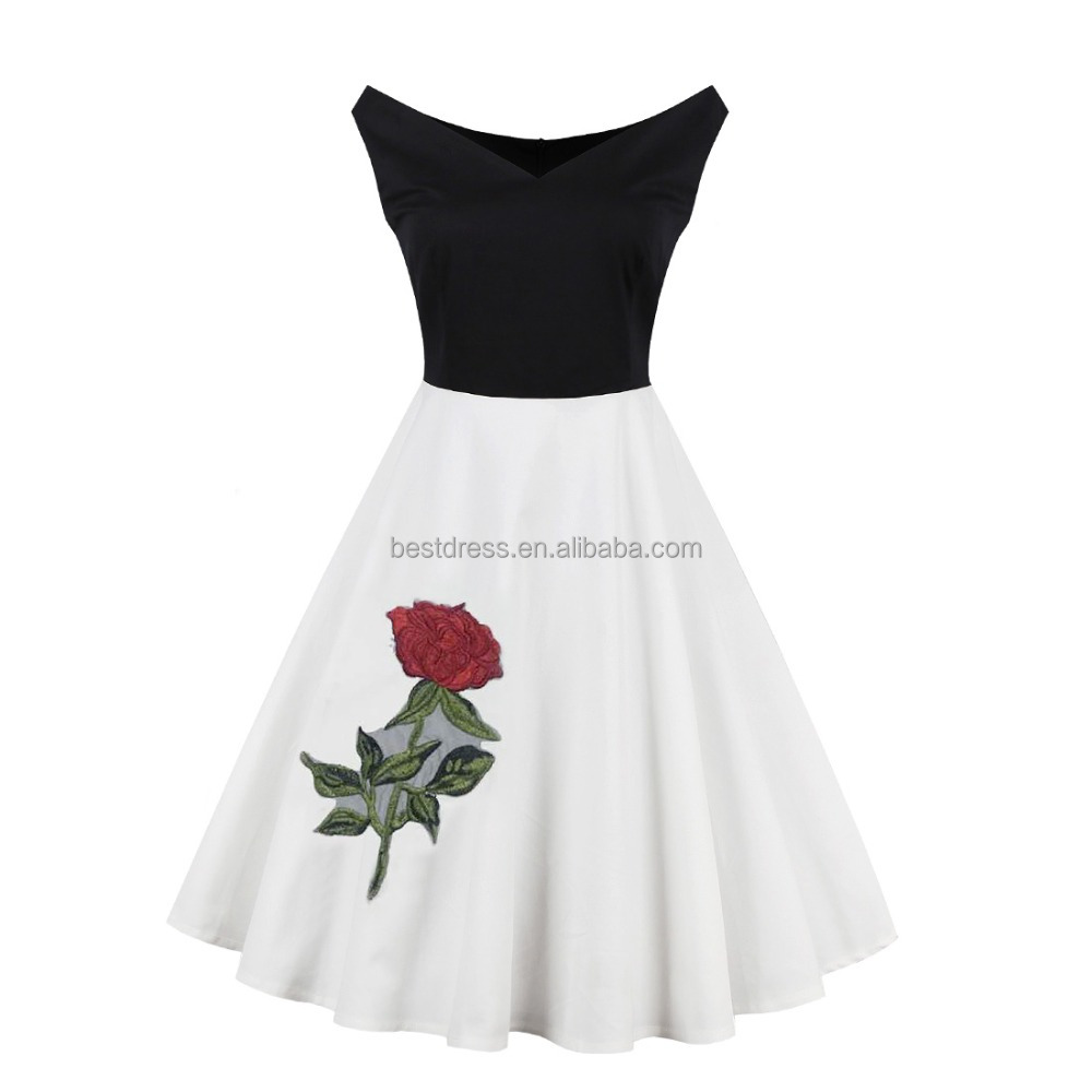 Wholesale Women <strong>Dress</strong> Classy Audrey Hepburn Style Red Vintage Style Swing <strong>Dress</strong> L1278A