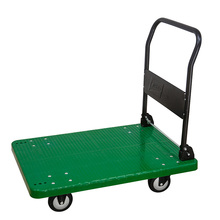 2017 New TC-300 plastic deck hand trolley cart 300kg heavy duty four wheel folding platform foldable handle cargo pallet
