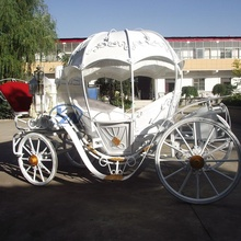 Horse Carriage Customized design YZN Pumpkin Horse Drawn Carriage European Style