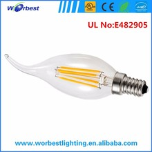 e12 12w led light bulb warm white ul listed dimmable candelabra led