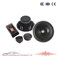 6.5'' component speaker WS-C65AL two way crossover 6.5 inch aluminum cone speaker car stereo components