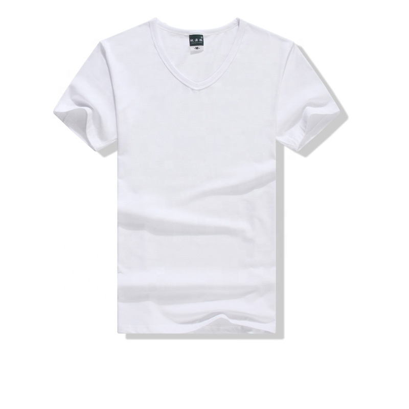 Solf Touch Blanks 100% Lycra Sublimation V-Neck t shirt for Men &Women China Wholesale in Stock