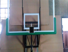 Good Wall Mounted Height Adjustable Glass Backboard Basketball System