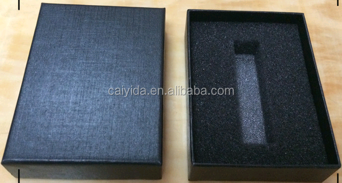 Custom high quality usb flash drive packaging box with foam insert