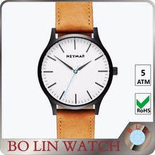 OEM WATCH CUSTOM LOGO LEATHER STRAP QUARTZ STAINLESS STEEL MEN FASHION MENS WRIST WATCHES WATCH