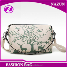2016 new arrival style fashion lady handbag with PU leather sling bag for woman with fancy animal print cartoon
