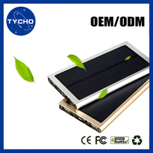 Waterproof IP66 Solar Cellphone Charger 20000mAh Led Lights Solar Power Bank For Camping Li-polymer Solar Battery Pack