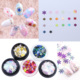 5 Christmas style holographic snow flakes Nail art bottle winter nail multi color trend glitter