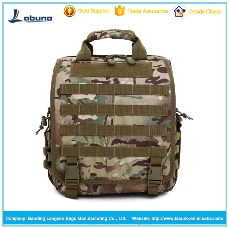 factory price camo canvas laptop backpack military bags