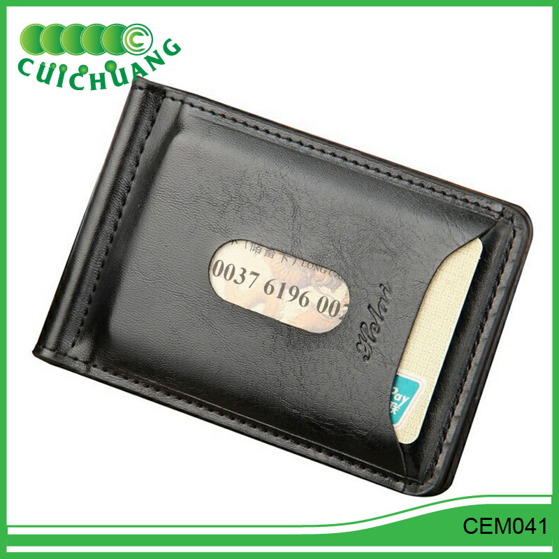 CEM041 Cuichuang Simple money clip creative US Dollar coin clip thin credit card wallet