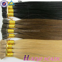 Wholesale Price Remy Italian Keratin Double Drawn two tone stick tip hair extension