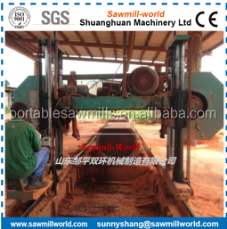 provided horizontal band sawing sawmill for log cutting