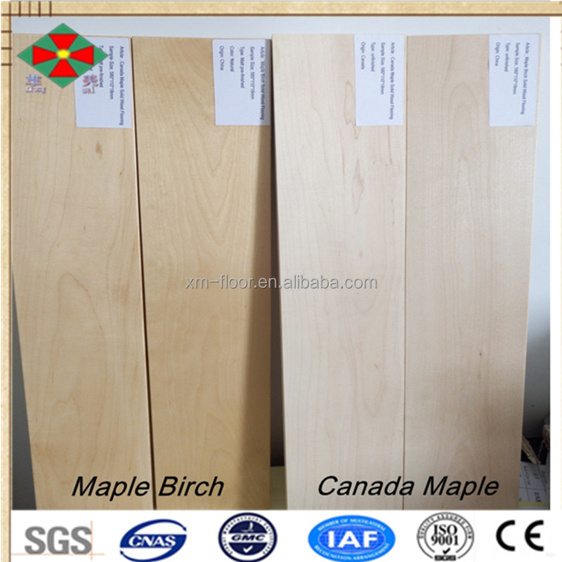 greatly native wood timber Maple Birch/Canada Maple unfinished solid hard wood floors