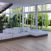 Australian Standard Thermal Break Double Glazed Aluminum Frame Sliding windows