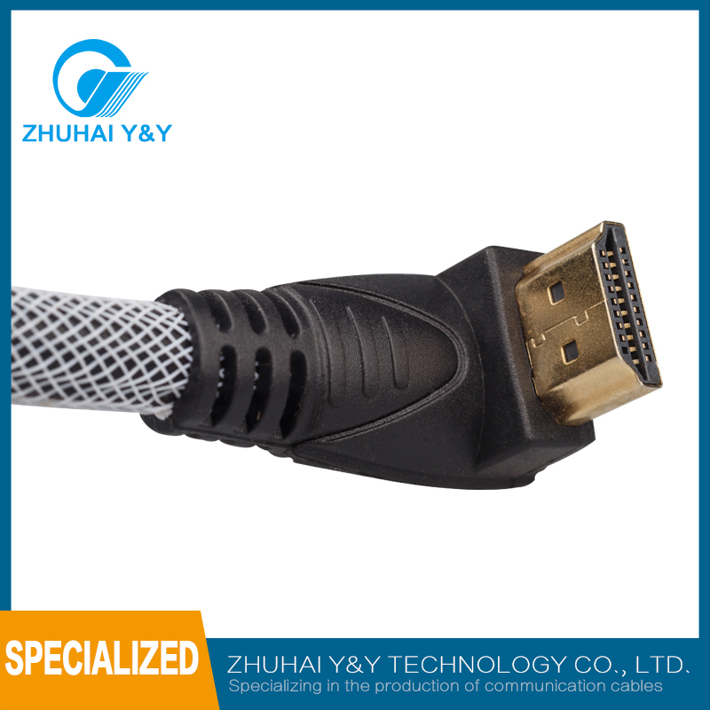 Hot sell popular right trangle HDMI cable 4k*2k HD support 3D and ethernet right triangle connector