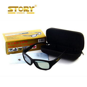 STORY LCD High quality color change sunglasses with electronic standard cell