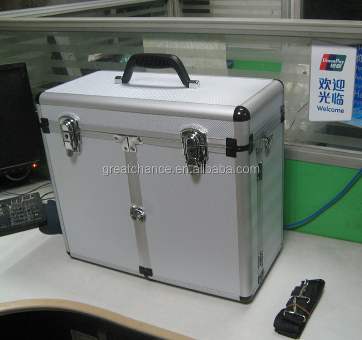 Customized aluminum case with shoulder belt - Pet groomers tack box - aluminum grooming case-aluminum tool case(XY-587)