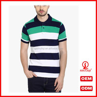 Polo shirt for men manufacturers 100 cotton striped polo t shirts for men