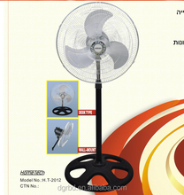 High Quality 18inch Multifunction Electric Industry Fans 3 in 1 Aluminum Blade Standing Desk Fan Wall Fan with 75W motor
