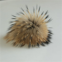 Factory wholesale raccoon fox fur pompon / fox fur pom poms